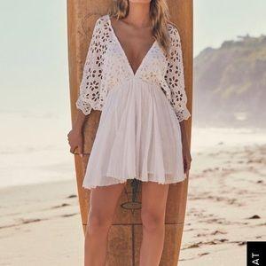 NWT Free people BELLA NOTE WHITE EYELET MINI DRESS